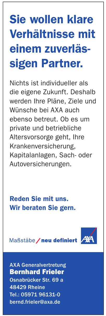 AXA Generalvertretung Bernhard Frieler