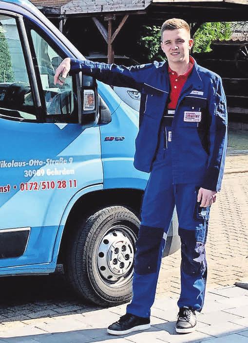 Dennis Hohe ist der jüngste Spross der Firma, der in die Fußstapfen des Großvaters und Firmengründers Dietmar Müller tritt. Foto: Dietmar Müller H-L-S GmbH