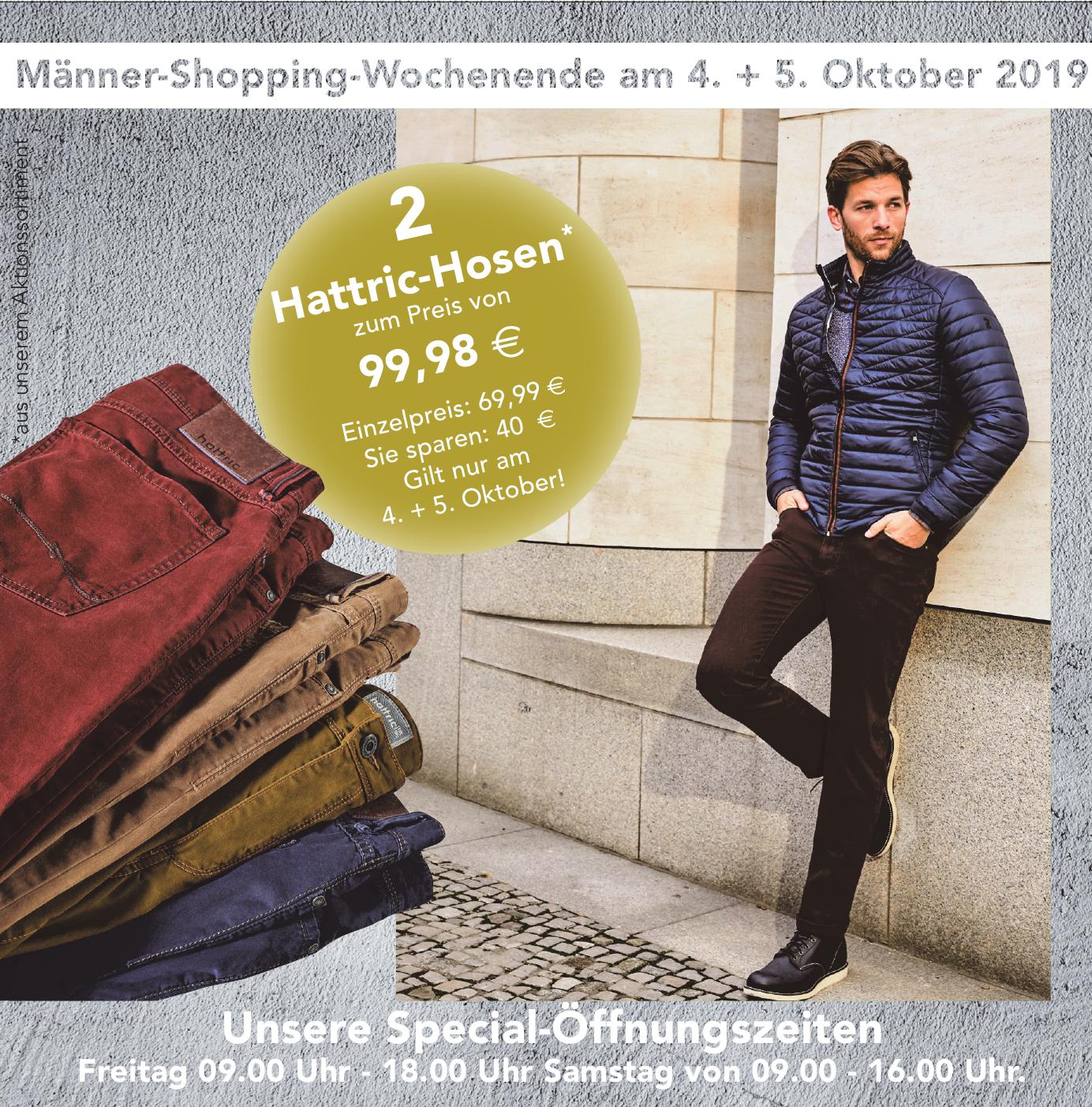 Männer-Shopping-Wochenende