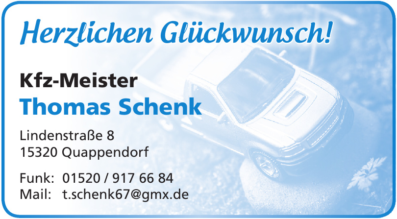 Kfz-Meister Thomas Schenk