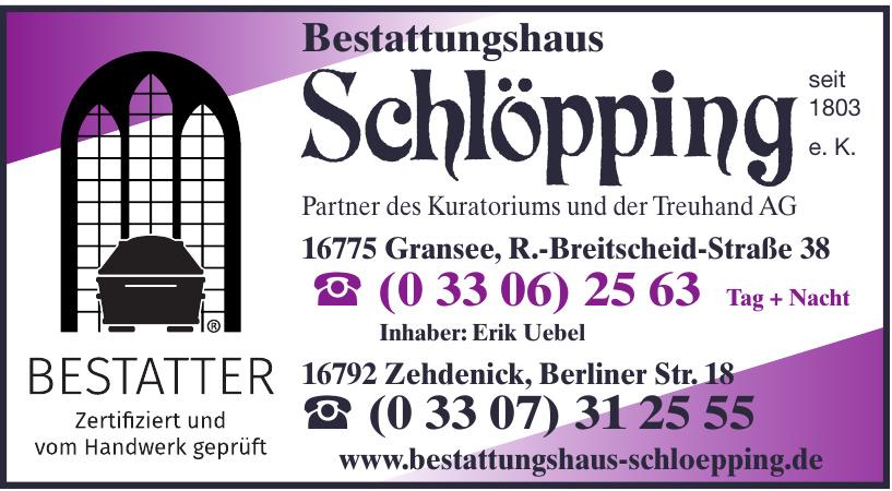 Bestattungshaus Schlöpping