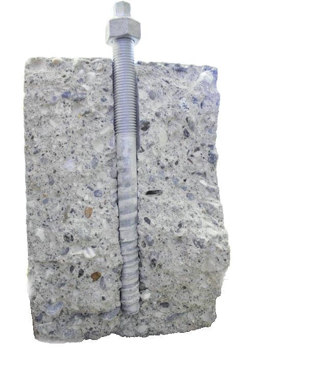 Die Relast-Schraube krallt sich im Beton fest. Damit können marode Stahlbetonbauwerke verstärkt werden. FOTOS: Büro Feix, Würth
