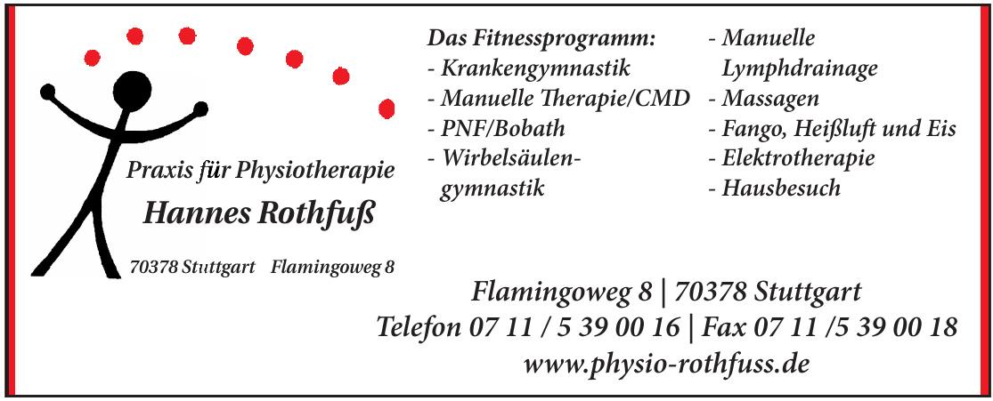 Praxis für Physiotherapie Hannes Rothfuß