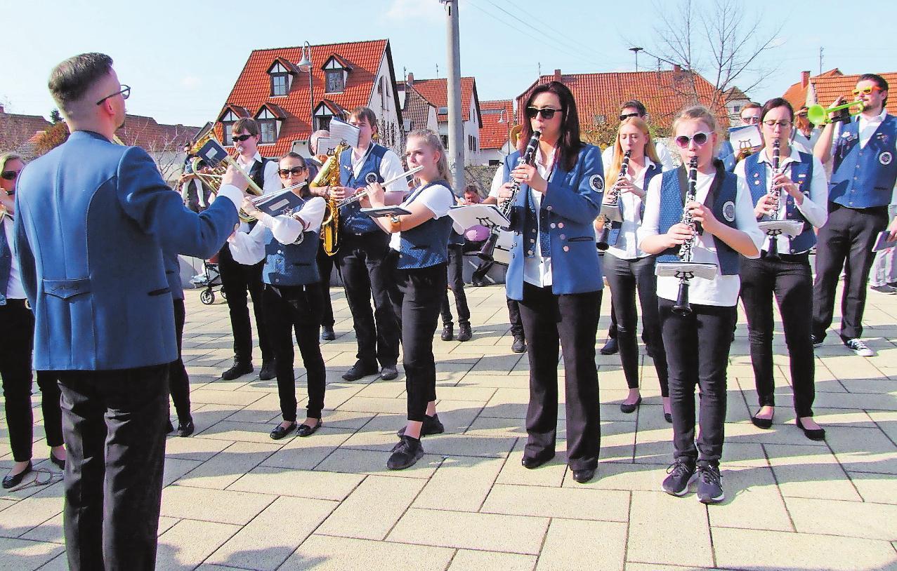 Sorgten für Stimmung beim Lätareumzug 2019: Der Musikverein Iggelheim präsentiert sich beim Tag der Vereine mit einer Instrumentenrallye. FOTO: GEMEINDE BÖHL-IGGELHEIM/FREI