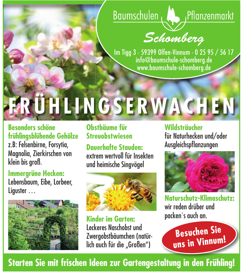 Baumschulen Pflanzenmarkt Schomberg