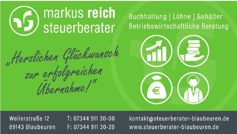 Markus Reich  Dipl. Finanzwirt (FH), Steuerberater
