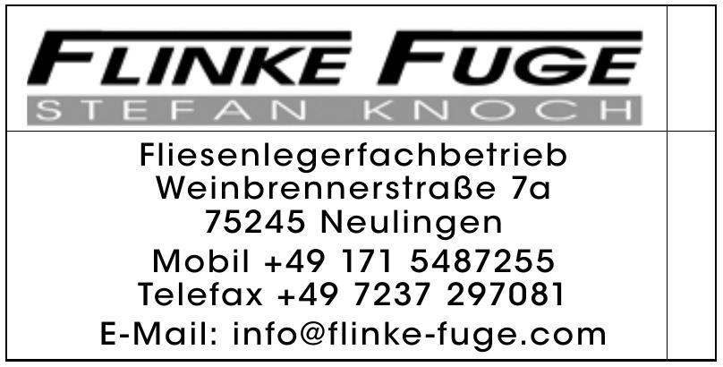 Flinke Fuge Fliesenlegerfachbetrieb Stefan Knoch