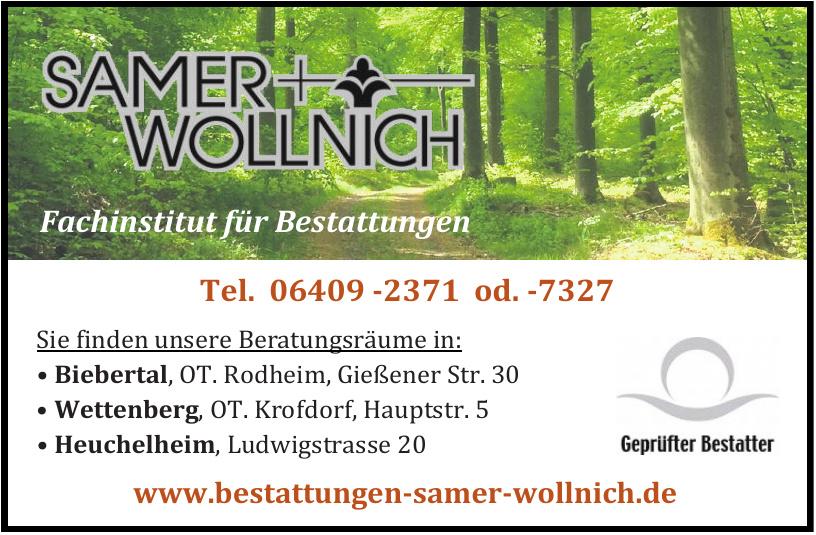Fachinstitut für Bestattungen Samer + Wollnich