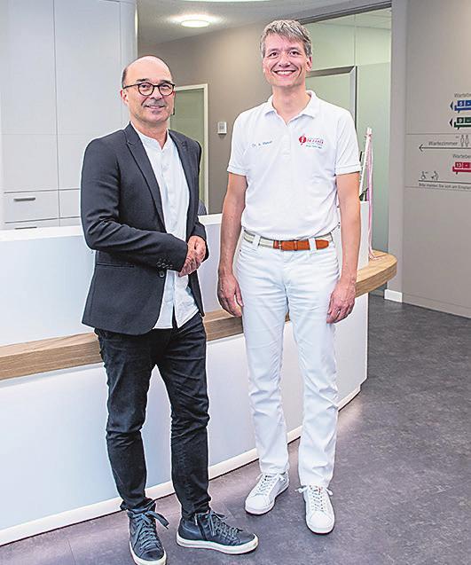 Die Macher des innovativen Projekts: Martin Kohler (l.) und Dr. Andreas Rieker
