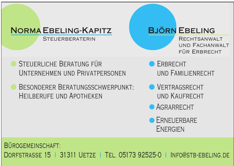 Norma Ebeling-Kapitz, Björn Ebeling - Steuerberatung & Rechtsanwalt