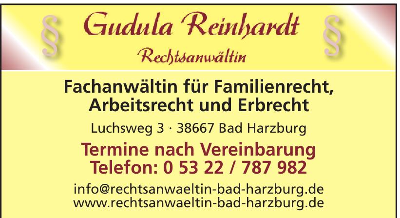 Gudula Reinhardt Rechtsanwältin