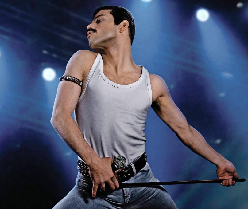 """Rami Malek als Freddie Mercury in """"Bohemian Rhapsody"""". Für seine Darstellung erhielt der Schauspieler einen Oscar. Foto: Fox Deutschland"""