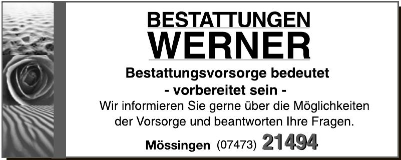 Bestattung Werner