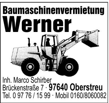Baumaschinenvermietung Werner