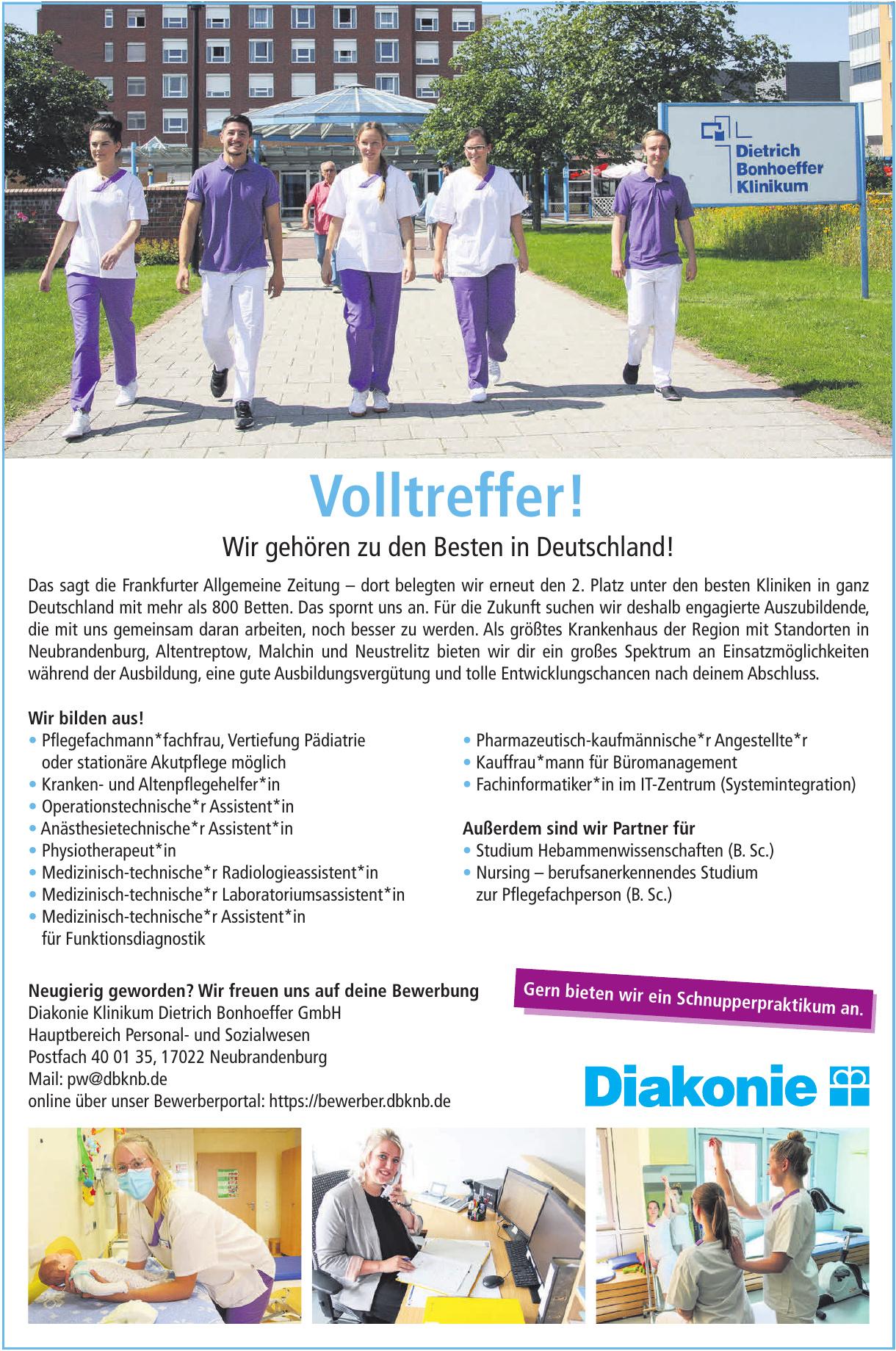 Diakonie Klinikum Dietrich Bonhoeffer GmbH