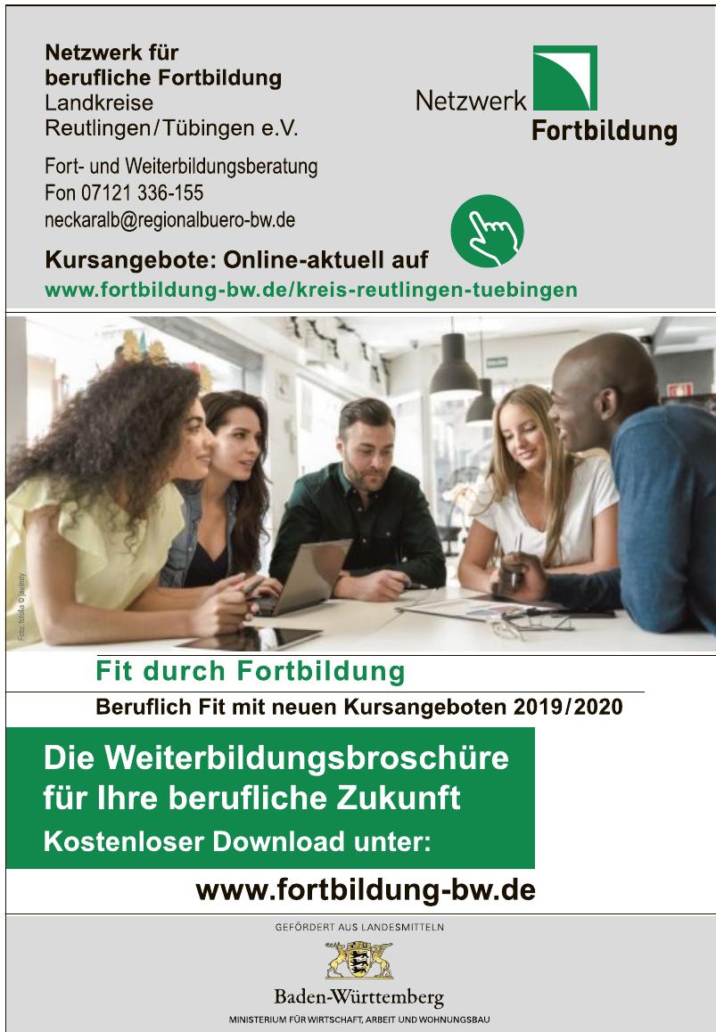 Netzwerk für berufliche Fortbildung Landkreise Reutlingen/Tübingen e.V.