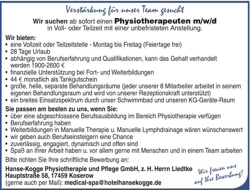 Hanse-Kogge Physiotherapie und Pflege GmbH