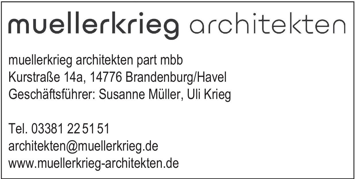 muellerkrieg architekten part mbb