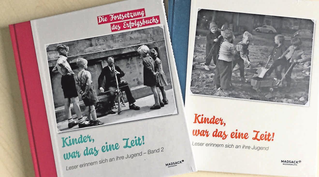 """In den Büchern """"Kinder, war das eine Zeit!"""" erzählen Leserinnen und Leser über ihre Kindheit."""