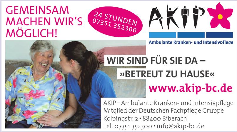 Ambulante Kranken- und Intensivpflege