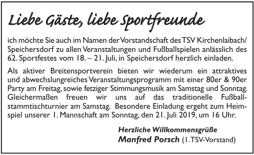 Manfred Porsch (1.TSV-Vorstand)