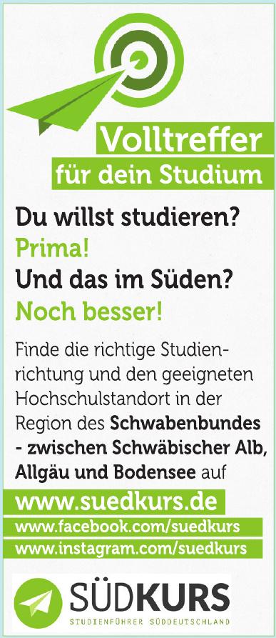 Südkurs Studienführer Süddeutschland