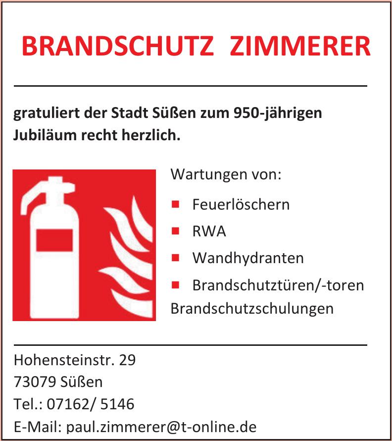 Brandschutz Zimmerer
