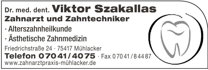 Dr. med. dent. Viktor Szakallas
