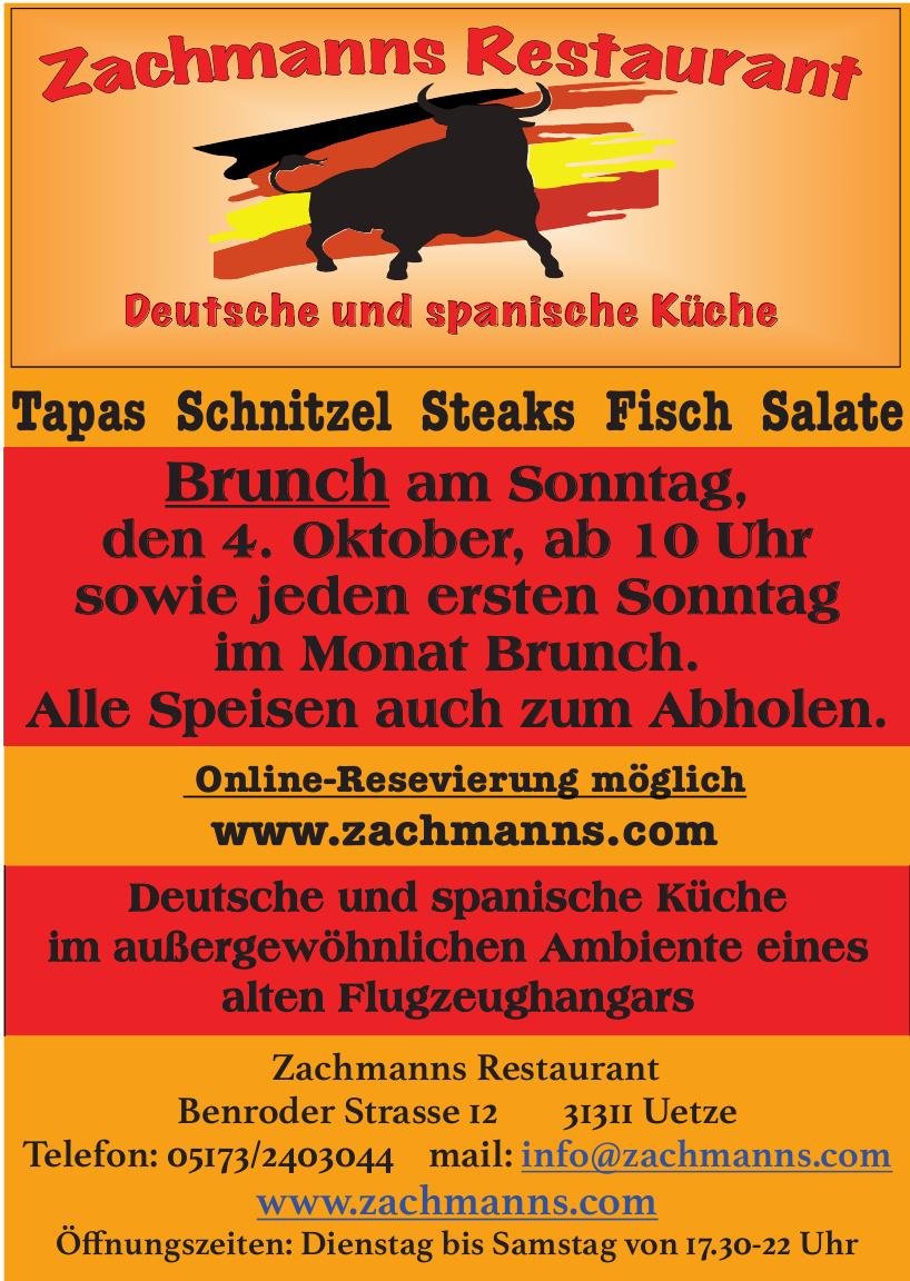 Zachmanns Restaurant in Uetze: Spanisch-Deutsche Küche