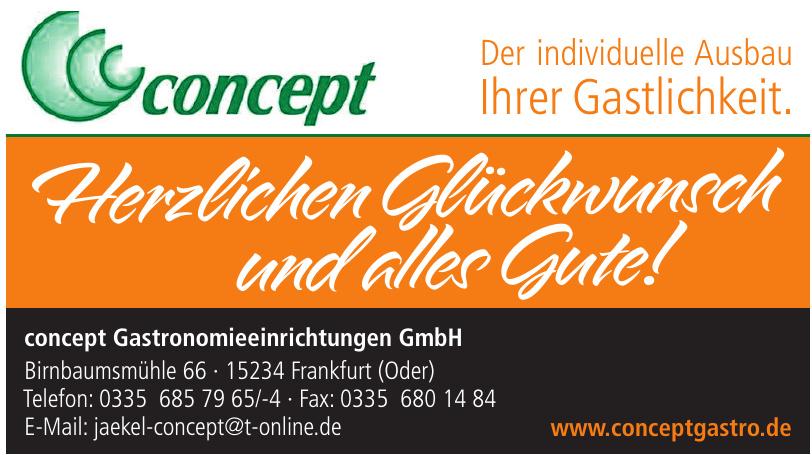 concept Gastronomieeinrichtungen GmbH