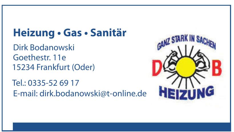 DB Dirk Bodanowski Heizung, Gas, Sanitär
