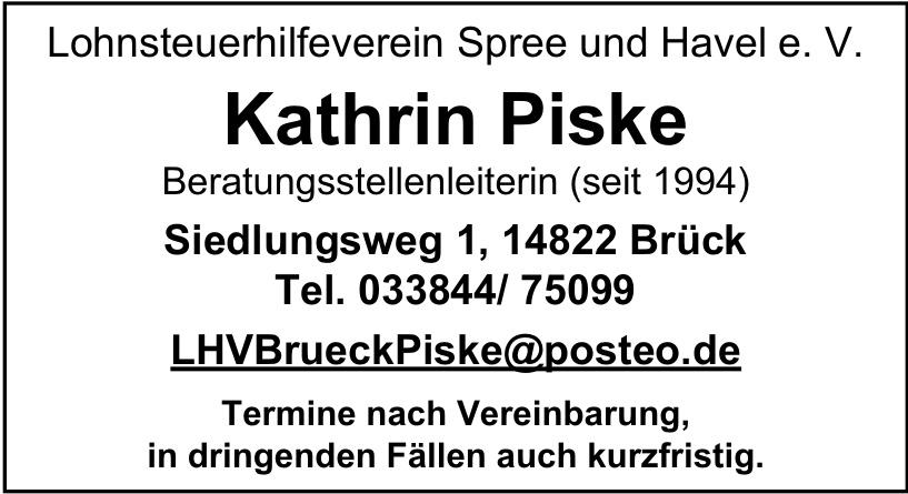 Lohnsteuerhilfeverein Spree und Havel e. V. - Kathrin Piske
