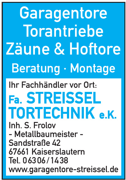 Fa. Streissel Tortechnik e.K