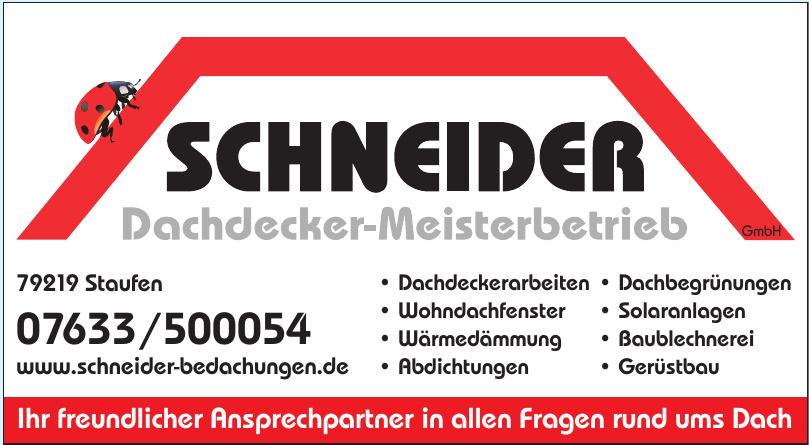 Schneider Dachdecker-Meisterbetrieb GmbH