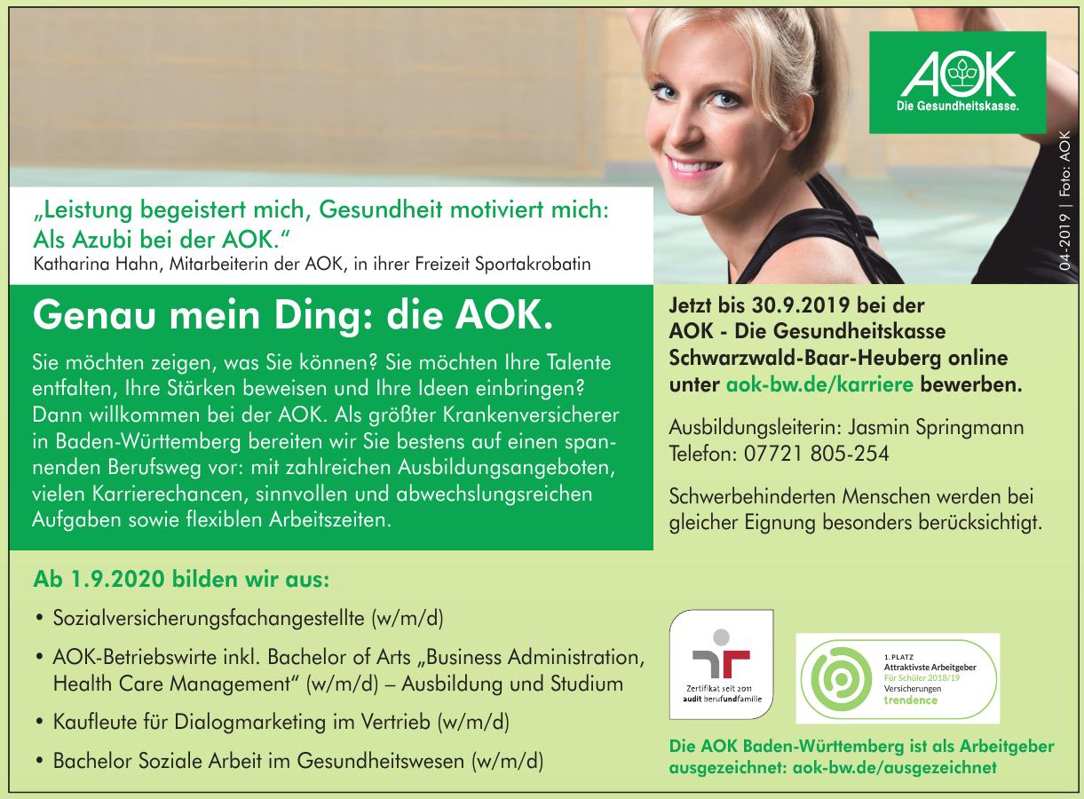 Die AOK Baden-Württemberg