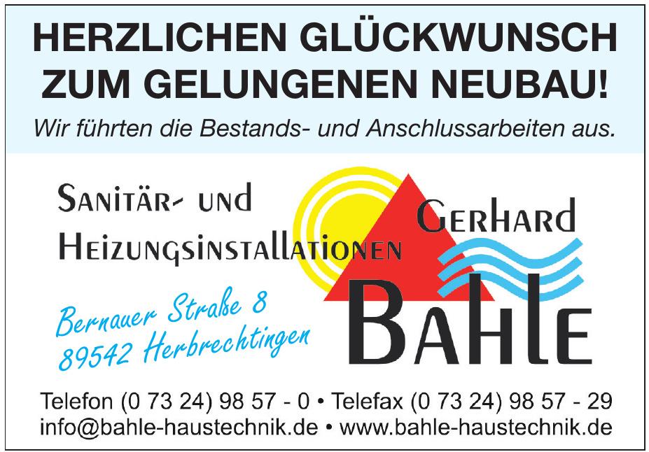 Sanitär- und Heizungsinstallationen Gerhard Bahle