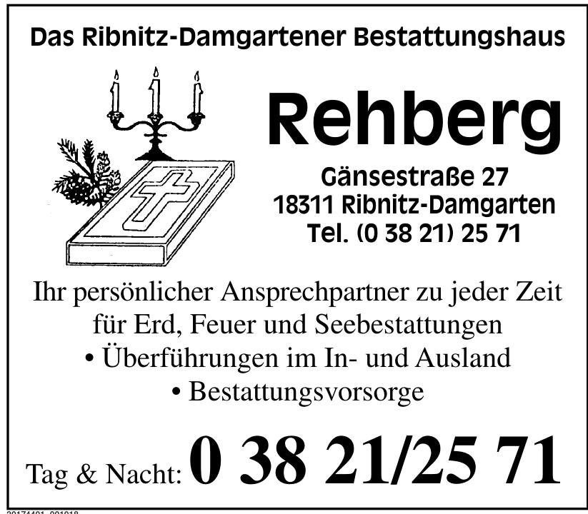 Das Ribnitz-Damgartener Bestattungshaus Rehberg