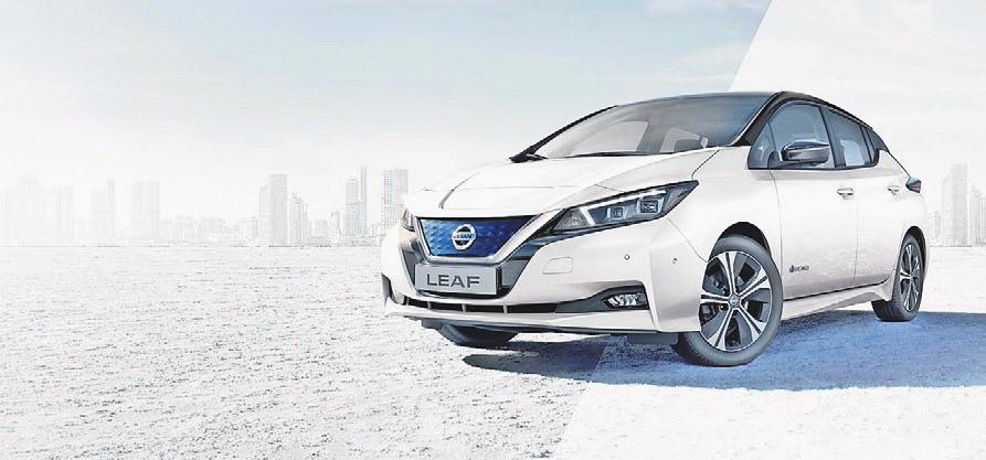 Der Nissan Leaf bringt pure und emissionsfreie Leistung auf die Straßen Ihrer Stadt. Foto Nissan