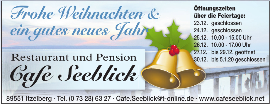 Restaurant und Pension Cafe Seeblick