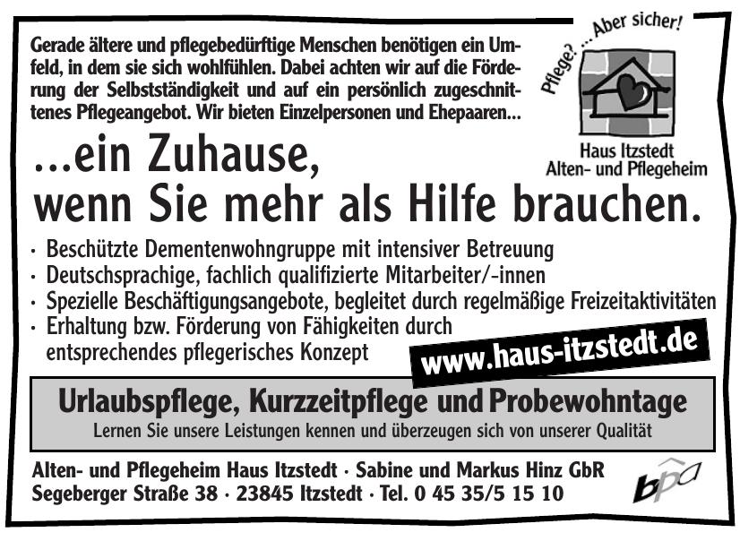 Alten- und Pflegeheim Haus Itzstedt · Sabine und Markus Hinz GbR