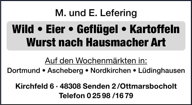 M. und E. Lefering