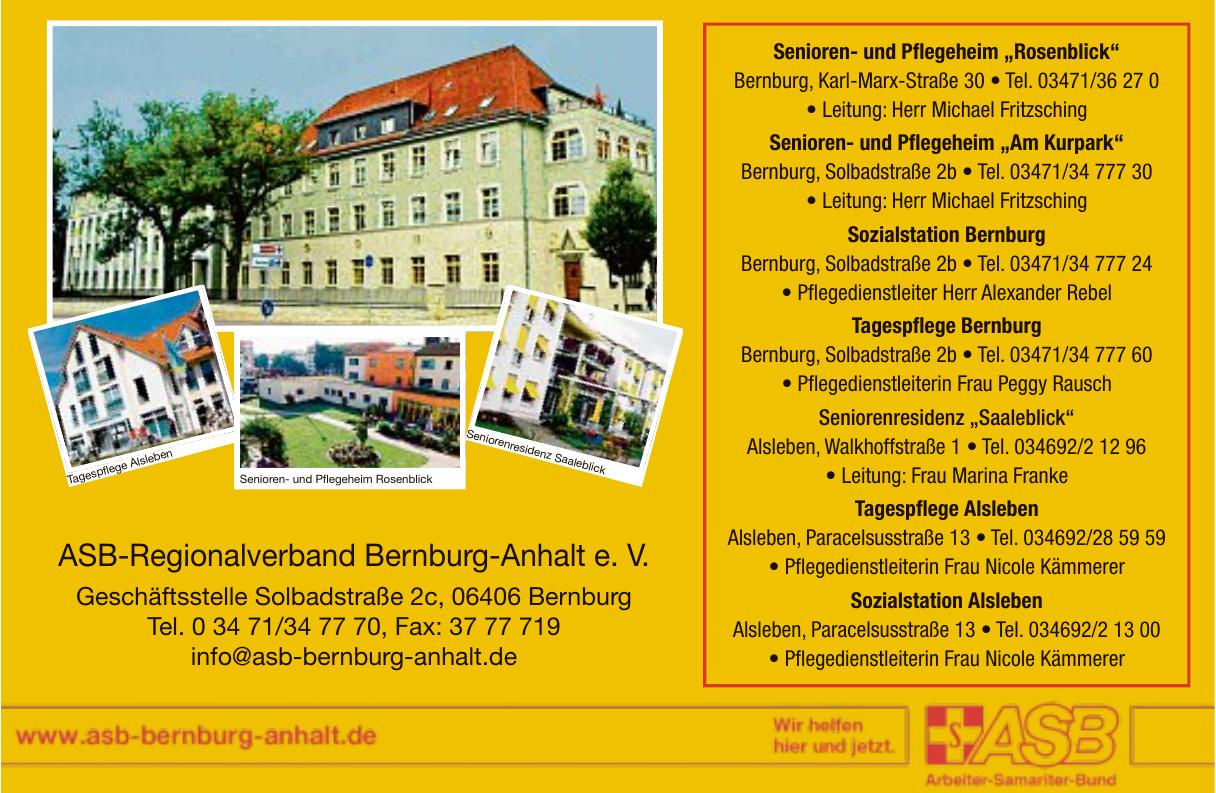 ASB-Regionalverband Bernburg-Anhalt e.V.