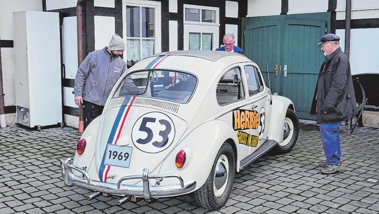 """Auch der liebenswerte VW-Käfer aus dem Disney-Klassiker """"Herbie"""" kann ab Sonntag, 10 Uhr, im Museum bewundert werden. Foto: kay"""