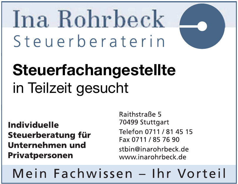 Steuerberaterin Ina Rohrbeck