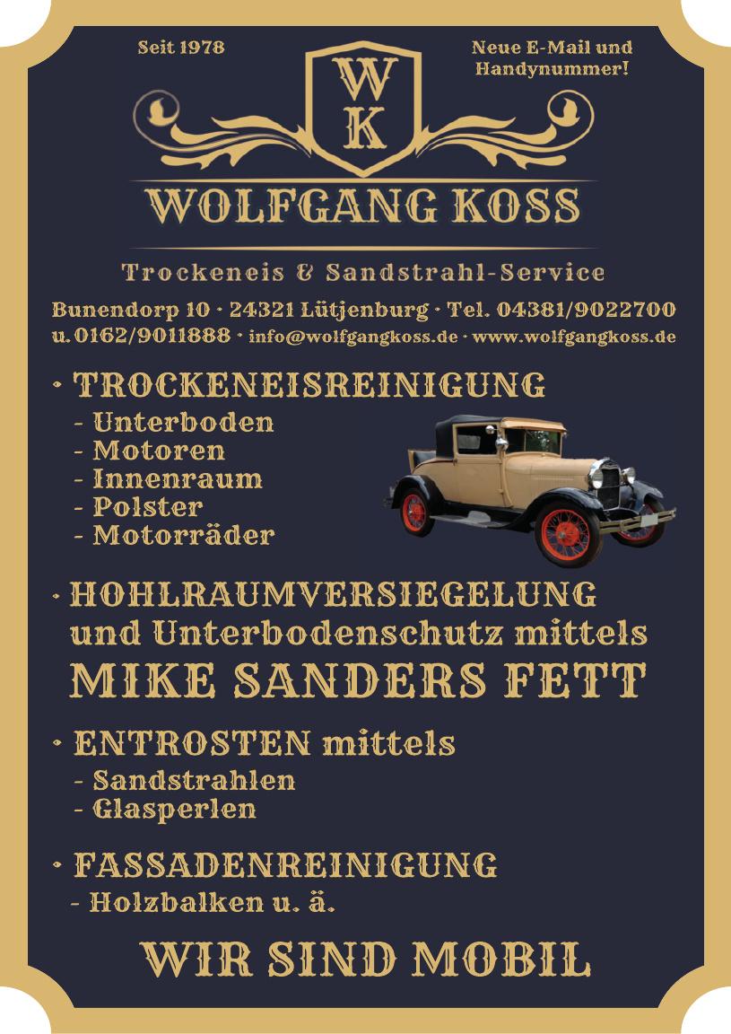 Wolfgang Koss, Trockeneis & Sandstrahl-Service