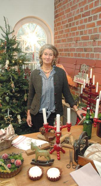 Agneta Molander hat viele schwedische Weihnachts-Accessoires zusamengetragen