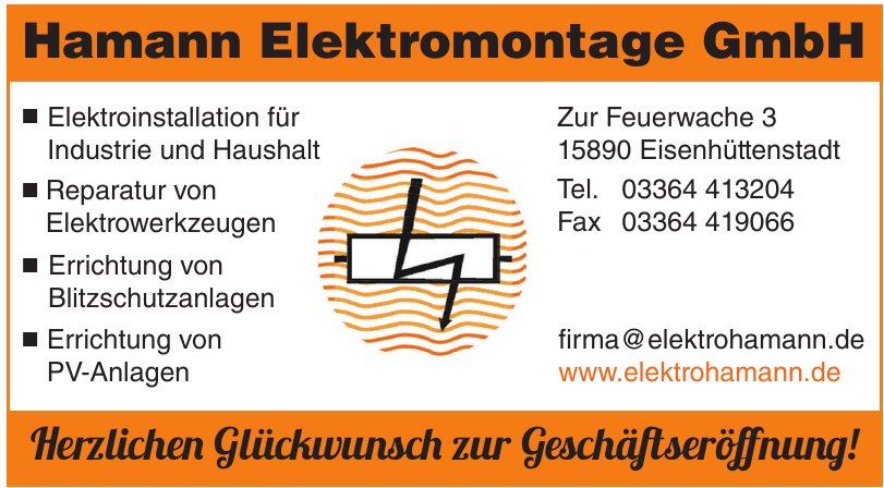 Hamann Elektromontage GmbH