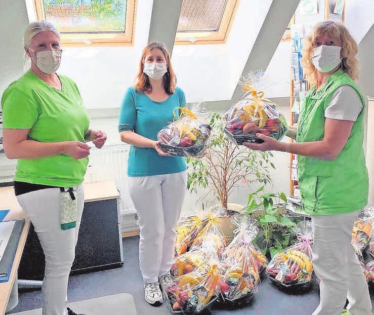 Tolle Geste: Jede Mitarbeiterin hat von Monika Jansen einen Picknickkorb geschenkt bekommen. Foto: privat