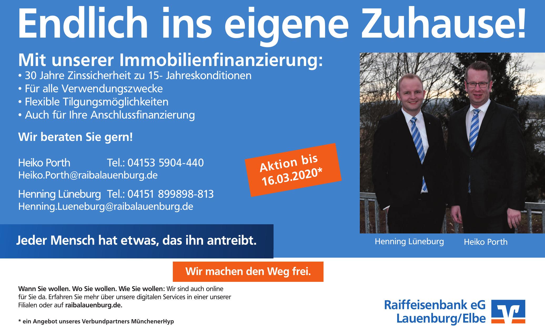 Raiffeisenbank eG Lauenburg/Elbe