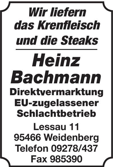 Heinz Bachmann Direktvermarktung EU-zugelassener Schlachtbetrieb